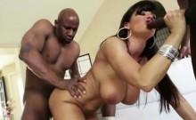 Gorgeous Bibi Noel enjoys an interracial butt fuck treat