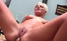 Short Haired Blonde Double Penetrated