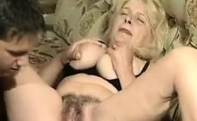 Blonde Granny With A Hairy Pussy Fucks