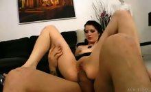Beautiful Lina gets a taste of Omar Galanti's big cock !
