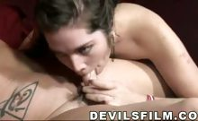 Lovely Daughter And Her Mom Enjoy Sucking Both The Same Cock