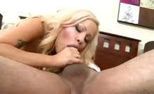 Hot Blonde Cami Cole Sure Knows How To Perform A Good DT!