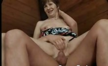 Older Babe Takes a Young Cock