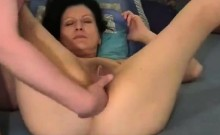 Drilling her shaved thight little beaver