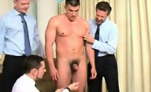 Naked Guy With Three Office Workers